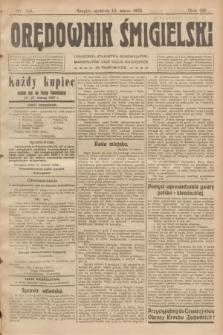 Orędownik Śmigielski. R.32, nr 59 (12 marca 1922)