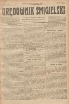 Orędownik Śmigielski. R.32, nr 62 (16 marca 1922)