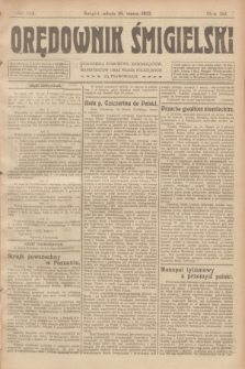 Orędownik Śmigielski. R.32, nr 64 (18 marca 1922)