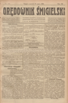 Orędownik Śmigielski. R.32, nr 68 (23 marca 1922)