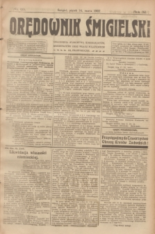 Orędownik Śmigielski. R.32, nr 69 (24 marca 1922)