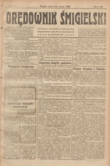 Orędownik Śmigielski. R.32, nr 70 (25 marca 1922)
