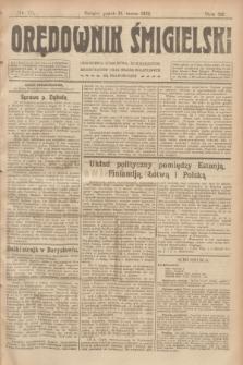 Orędownik Śmigielski. R.32, nr 75 (31 marca 1922)