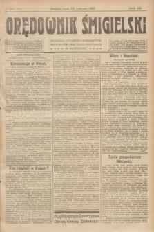 Orędownik Śmigielski. R.32, nr 85 (12 kwietnia 1922)