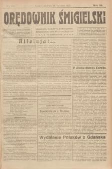 Orędownik Śmigielski. R.32, nr 89 (16 kwietnia 1922)