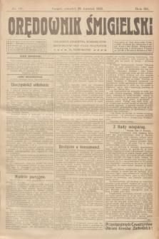 Orędownik Śmigielski. R.32, nr 91 (20 kwietnia 1922)