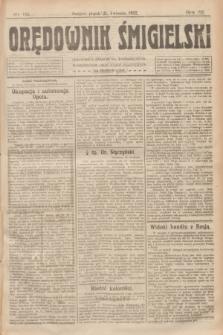 Orędownik Śmigielski. R.32, nr 92 (21 kwietnia 1922)