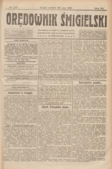 Orędownik Śmigielski. R.32, nr 121 (28 maja 1922)