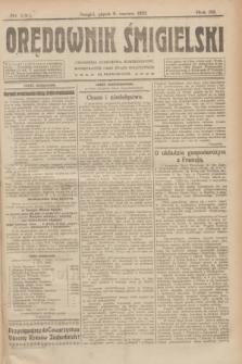 Orędownik Śmigielski. R.32, nr 130 (9 czerwca 1922)
