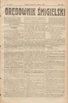 Orędownik Śmigielski. R.32, nr 138 (20 czerwca 1922)
