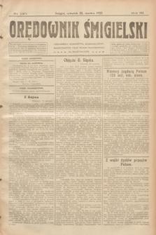 Orędownik Śmigielski. R.32, nr 140 (22 czerwca 1922)