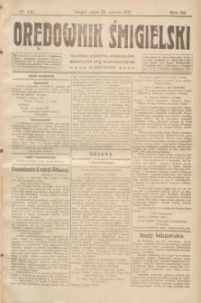 Orędownik Śmigielski. R.32, nr 141 (23 czerwca 1922)