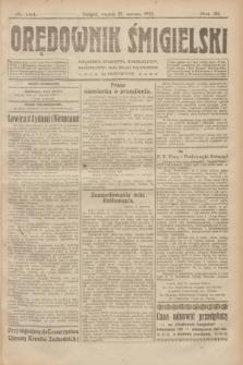 Orędownik Śmigielski. R.32, nr 144 (27 czerwca 1922)