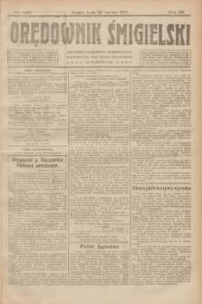 Orędownik Śmigielski. R.32, nr 145 (28 czerwca 1922)