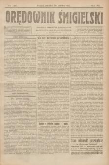Orędownik Śmigielski. R.32, nr 146 (29 czerwca 1922)