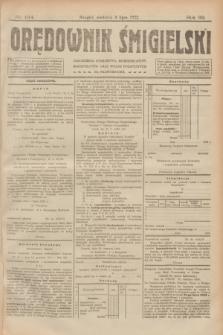 Orędownik Śmigielski. R.32, nr 154 (9 lipca 1922)