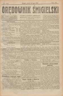 Orędownik Śmigielski. R.32, nr 158 (14 lipca 1922)
