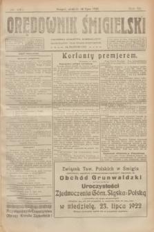 Orędownik Śmigielski. R.32, nr 160 (16 lipca 1922)