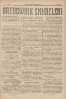 Orędownik Śmigielski. R.32, nr 164 (21 lipca 1922)