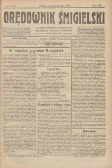 Orędownik Śmigielski. R.32, nr 166 (23 lipca 1922)