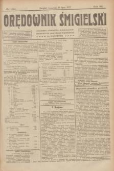 Orędownik Śmigielski. R.32, nr 169 (27 lipca 1922)