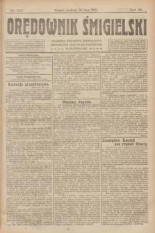Orędownik Śmigielski. R.32, nr 172 (30 lipca 1922)