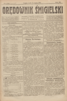 Orędownik Śmigielski. R.32, nr 174 (2 sierpnia 1922)