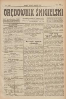 Orędownik Śmigielski. R.32, nr 180 (9 sierpnia 1922)