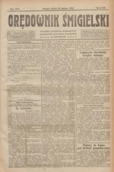 Orędownik Śmigielski. R.32, nr 183 (12 sierpnia 1922)