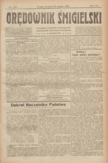 Orędownik Śmigielski. R.32, nr 189 (20 sierpnia 1922)