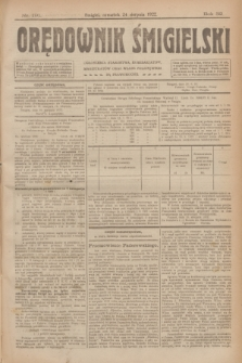 Orędownik Śmigielski. R.32, nr 191 (24 sierpnia 1922)