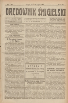 Orędownik Śmigielski. R.32, nr 196 (30 sierpnia 1922)