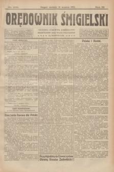 Orędownik Śmigielski. R.32, nr 206 (10 września 1922)