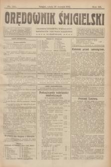 Orędownik Śmigielski. R.32, nr 211 (16 września 1922)