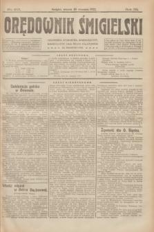 Orędownik Śmigielski. R.32, nr 213 (19 września 1922)