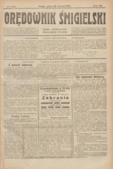 Orędownik Śmigielski : pismo poświęcone wszystkim stanom. R.32, nr 216 (22 września 1922)