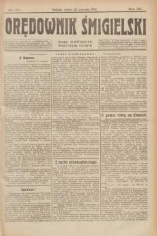 Orędownik Śmigielski : pismo poświęcone wszystkim stanom. R.32, nr 217 (23 września 1922)