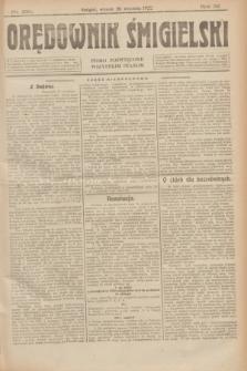 Orędownik Śmigielski : pismo poświęcone wszystkim stanom. R.32, nr 219 (26 września 1922)