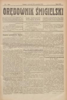 Orędownik Śmigielski : pismo poświęcone wszystkim stanom. R.32, nr 221 (28 września 1922)