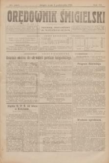 Orędownik Śmigielski : dziennik bezpartyjny dla wszystkich stanów. R.32, nr 226 (4 października 1922)