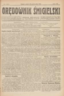 Orędownik Śmigielski : dziennik bezpartyjny dla wszystkich stanów. R.32, nr 240 (20 października 1922)
