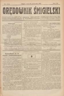 Orędownik Śmigielski : dziennik bezpartyjny dla wszystkich stanów. R.32, nr 244 (25 października 1922)