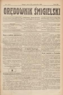 Orędownik Śmigielski : dziennik bezpartyjny dla wszystkich stanów. R.32, nr 247 (28 października 1922)