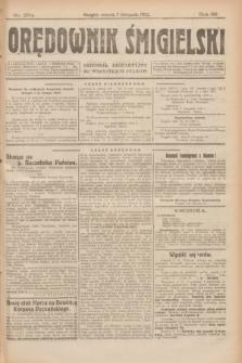 Orędownik Śmigielski : dziennik bezpartyjny dla wszystkich stanów. R.32, nr 254 (7 listopada 1922)