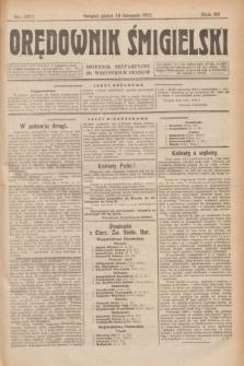 Orędownik Śmigielski : dziennik bezpartyjny dla wszystkich stanów. R.32, nr 257 (10 listopada 1922)