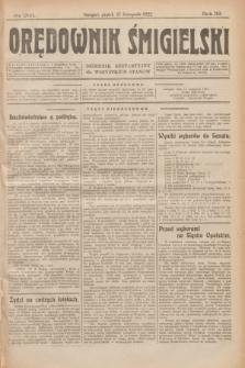 Orędownik Śmigielski : dziennik bezpartyjny dla wszystkich stanów. R.32, nr 263 (17 listopada 1922)