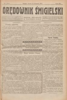 Orędownik Śmigielski : dziennik bezpartyjny dla wszystkich stanów. R.32, nr 266 (21 listopada 1922)