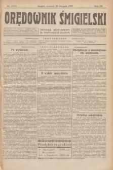 Orędownik Śmigielski : dziennik bezpartyjny dla wszystkich stanów. R.32, nr 268 (23 listopada 1922)