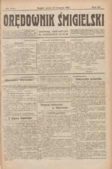 Orędownik Śmigielski : dziennik bezpartyjny dla wszystkich stanów. R.32, nr 269 (24 listopada 1922)