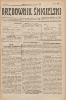 Orędownik Śmigielski : dziennik bezpartyjny dla wszystkich stanów. R.32, nr 270 (25 listopada 1922)